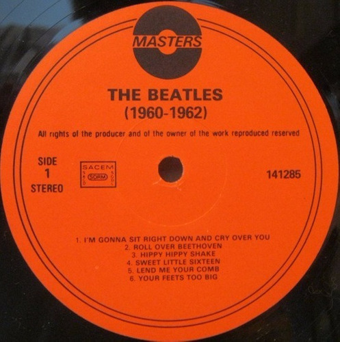 the beatles 1960-1962 álbum blanco vinilo importado masters