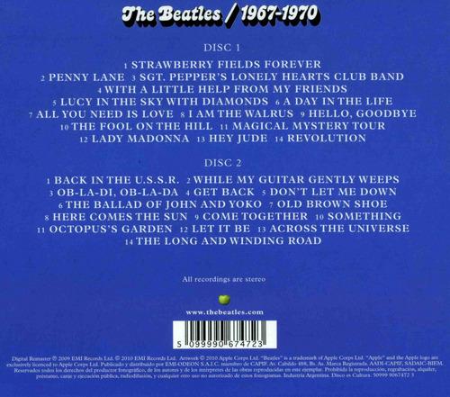 the beatles - 1962-1966, 1967-1970 (4 cds)