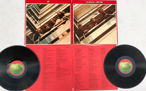the beatles 1962-1966 rojo red vinilo japones