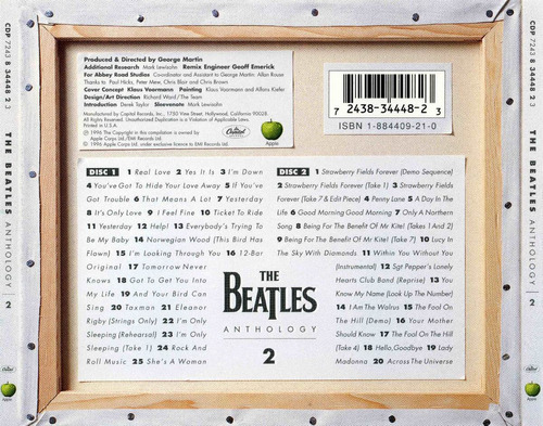 the beatles anthology 1, 2 y 3 (6 cds)