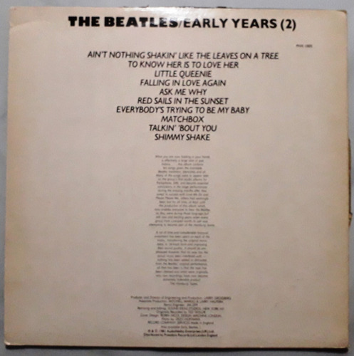 the beatles early years vol. 2 vinil