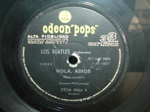 the beatles hello goodbye / i am the walrus simple argentino
