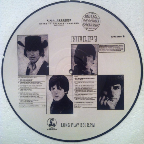 the beatles - help! - lp picture disc novo