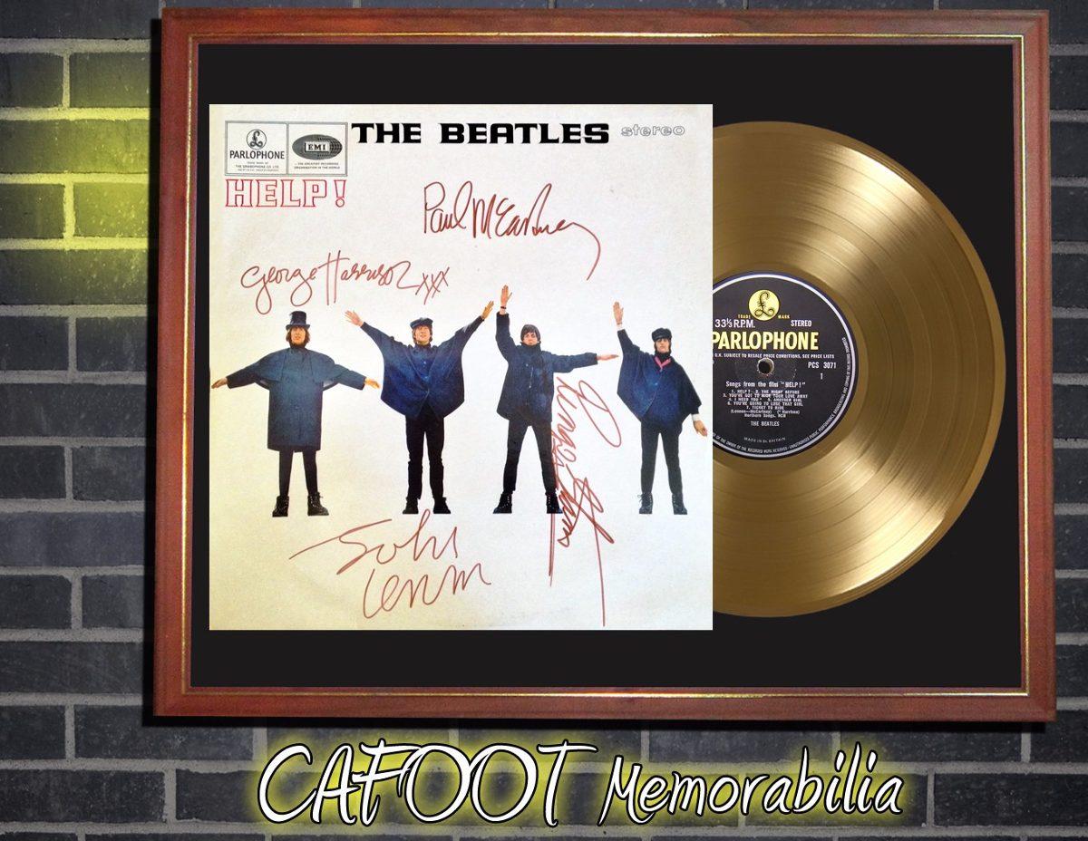 The Beatles Help ! Tapa Lp Firmada Disco Oro Enmarcado - $ 599,00 en ...
