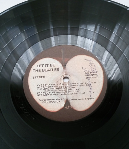 the beatles - let it be ( l p 1ra. ed. u s a 1970)