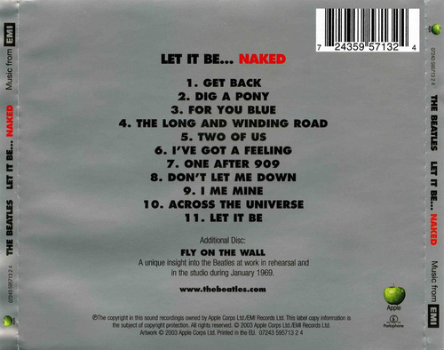 the beatles let it be... naked (2 cds)