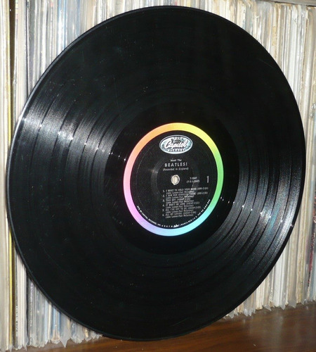 the beatles lp meet the beatles usa sello negro arcoiris