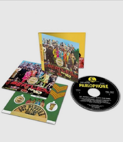 the beatles sgt peppers 50 anos edição deluxe - gift box r