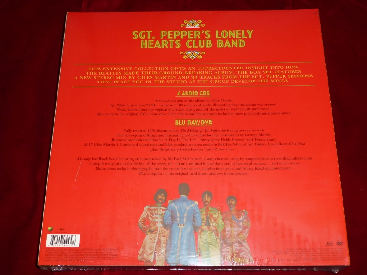 The Beatles Sgt Peppers Box Set 50 Aniversario 4cds+bluray+d