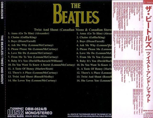**the beatles**  **twist and shout**  *cd duplo dr.ebbetts*