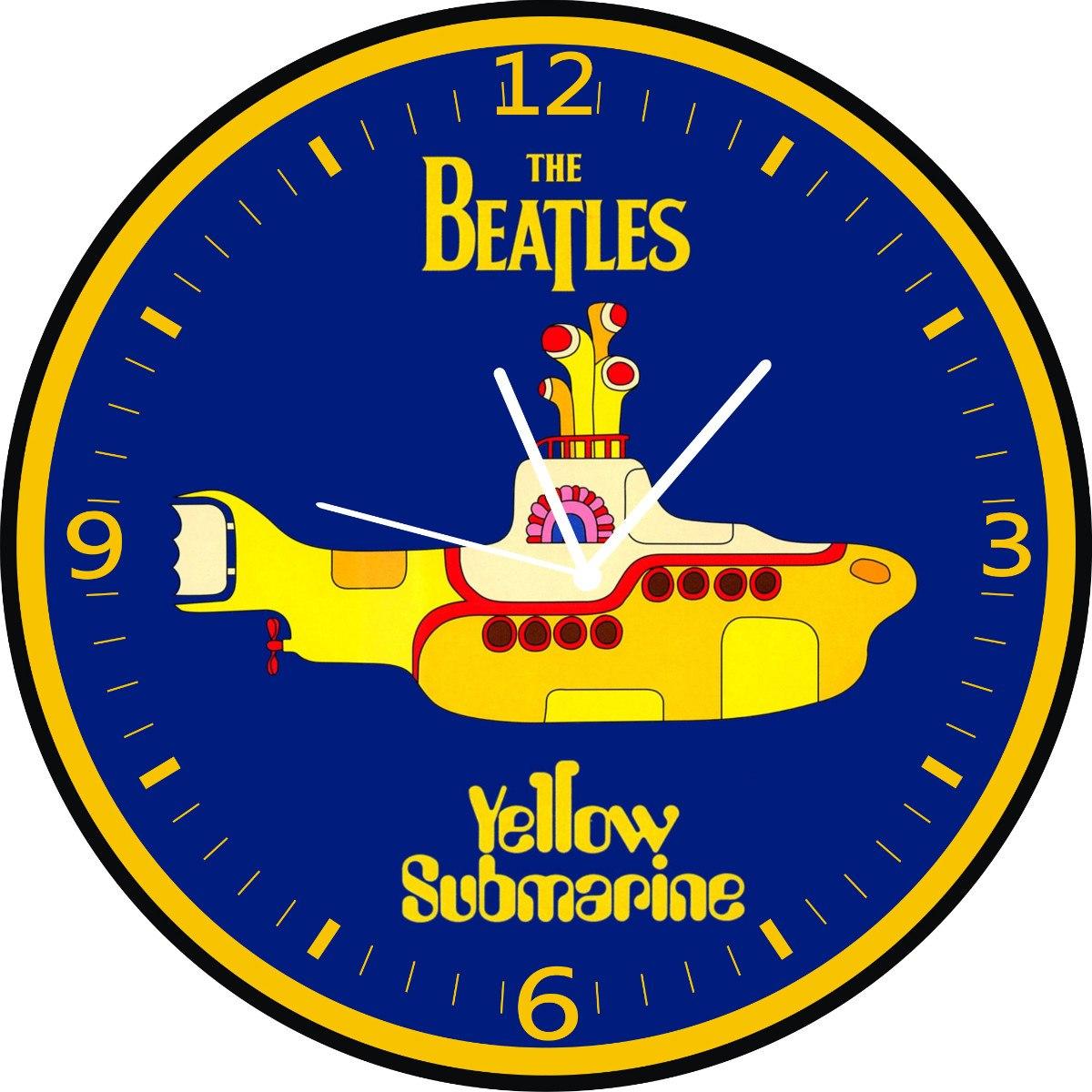 Aparador De Inox Para Cozinha ~ The Beatles Yellow Submarine Relógio De Parede R$ 75