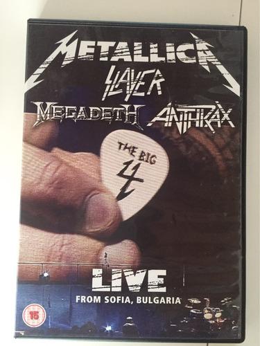 the big 4 - metallica megadeth anthrax slayer x2 dvds