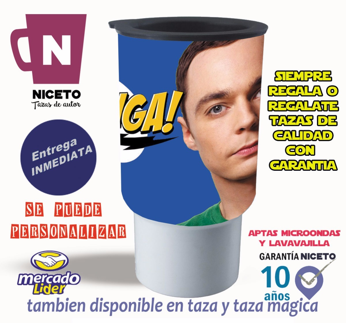 The Big Bang Theory Jarro Termico Sheldon Bazinga Niceto 199  # Muebles Big Bang Theory