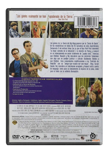 the big bang theory quinta temporada 5  serie dvd