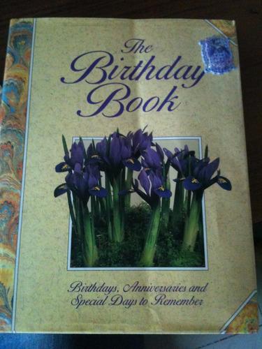 the birthday book el libro de los cumpleaños y aniversarios