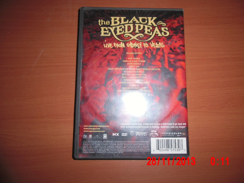 the black eyed peas - dvd - live from sydney