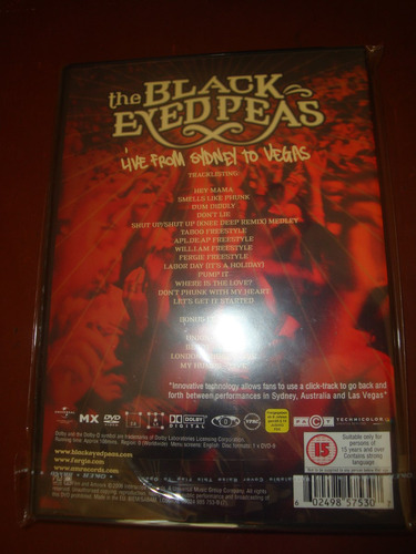 the black eyed peas live from sidney to vegas  original