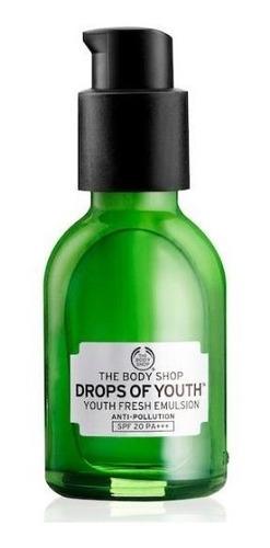 the body shop - drops of youth - emulsao antipoluição