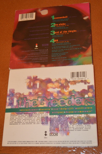 the breeders cannonball + divine hammer 2 cds singles