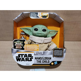 The Child Baby Yoda Animatronic Mandalorian Star Wars Stock