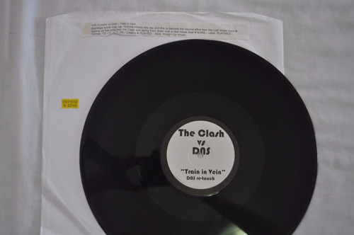 the clash, vs dns train in vein, maxi single, vinil