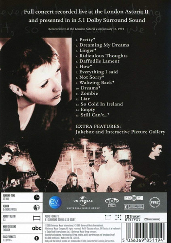 the cranberries, live, 1 dvd