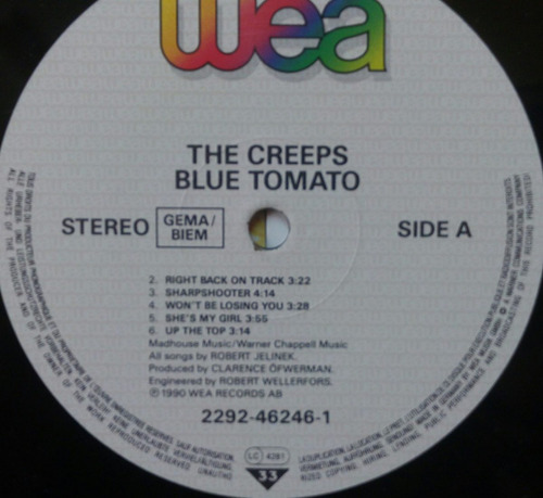 the creeps vinyl vintage blue tomato importado europa