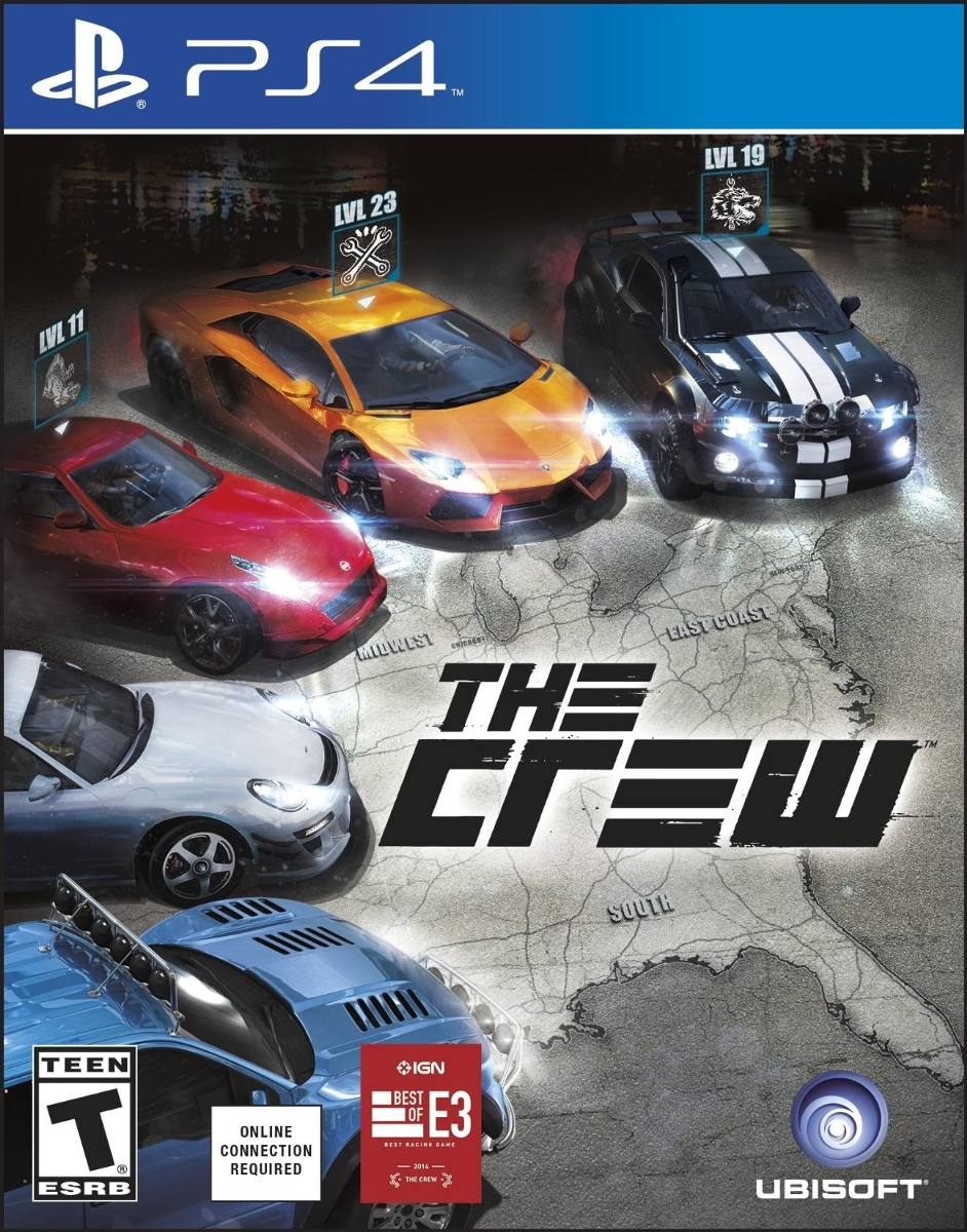The Crew Para Ps4 Playstation 4 Ubisoft Carros Bs 0 18 En