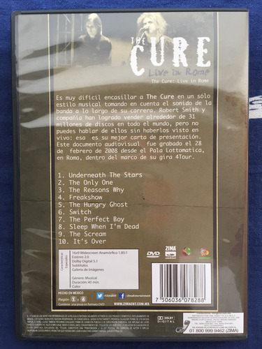 the cure live in rome dvd