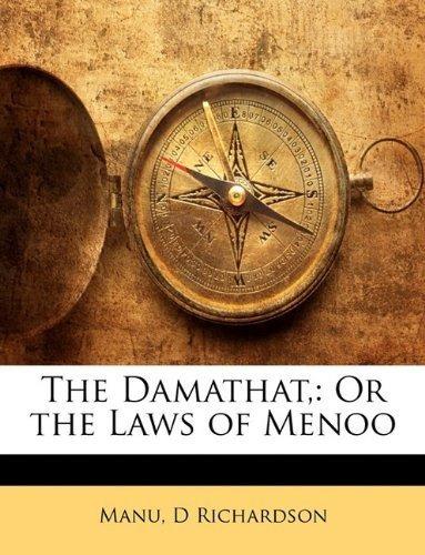 the damathat, : manu