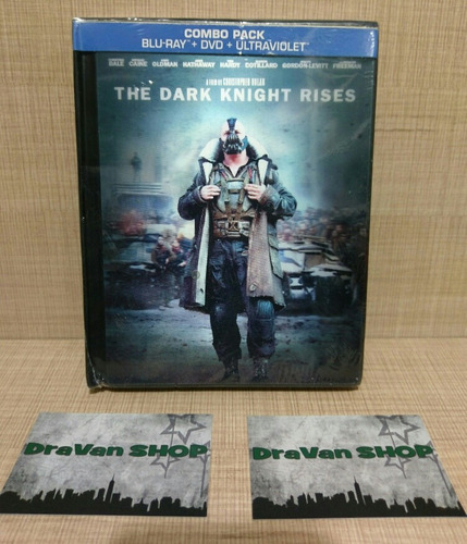 the dark knight rises batman digibook blu ray película
