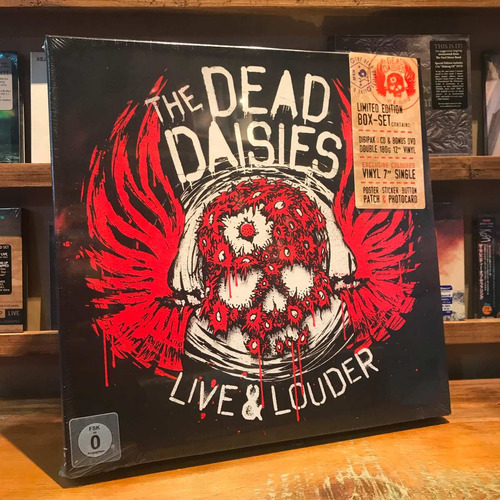 the dead daisies live & louder box cd dvd 2 vinilos single 7