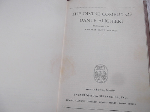 the divine comedy of dante alighieri tapa dura en ingles