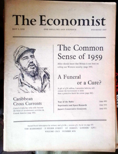 the economist  may 1959 - london 390-488p buen estado salvo