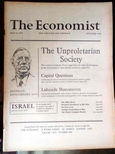 the economist  may 1959 - london 590-692p buen estado algo d