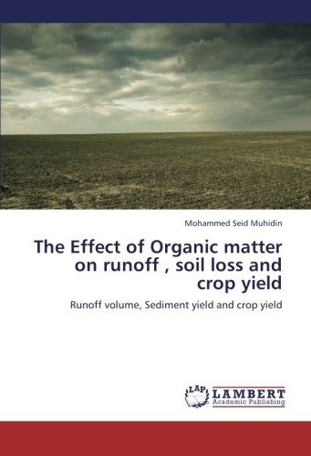 the effect of organic matter on runoff , soil loss and crop