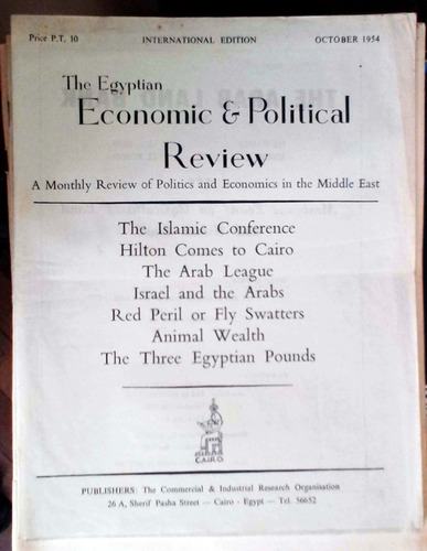 the egyptian economic & political review oct 954 - abdel mah