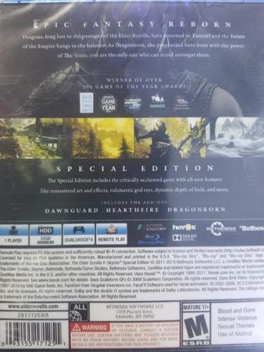the elder scrolls 5 v skyrim special edition ps4 delivery