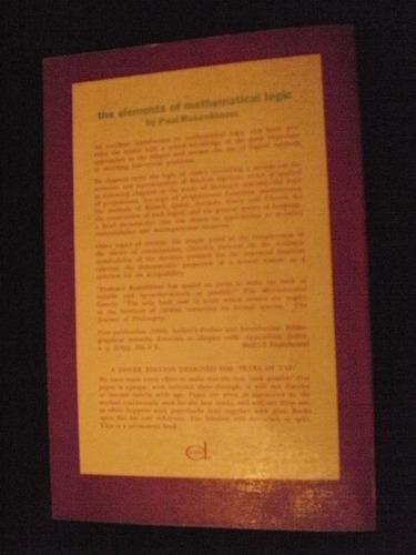 the elements of mathematical logic - paul rossenbloom