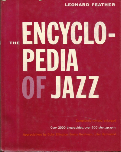the encyclopedia of jazz - leonard feather- jazz - nyc 1960