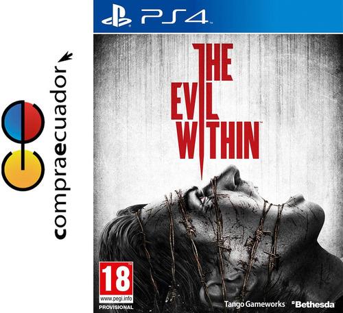 the evil within ps4 disco fisico nuevo original sellado ps4