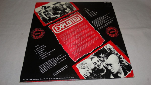 the exploited - live and loud !!! '87 (vinilo:ex - cover:vg)