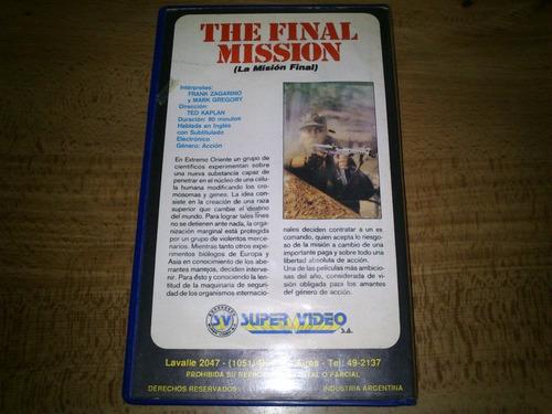 the final mission vhs la mision final guerra frank zagarino