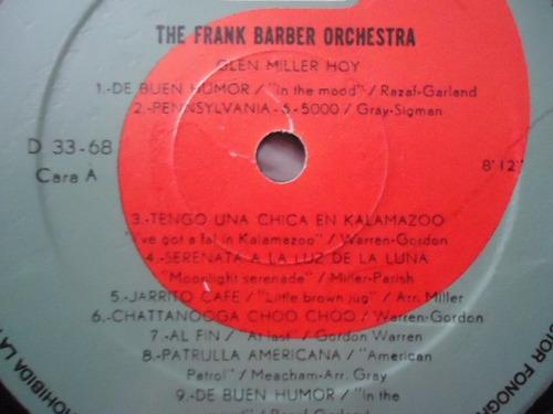 the frank barber orchestra / glenn miller hoy vinyl lp