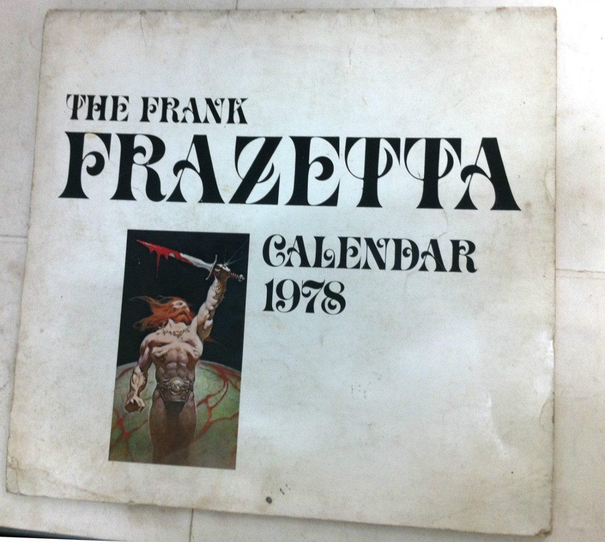 Calendario 1978.The Frank Frazetta Calendario 1978