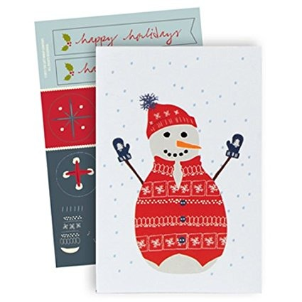 The Gift Wrap Company Boxed Holiday Cards, Medium, Cozy Snow ...