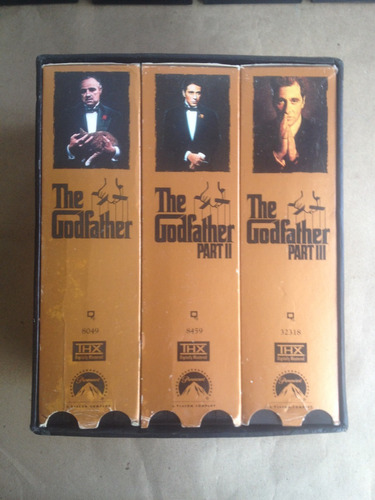 the godfather el padrino vhs coleccion 1,2 y 3 - 6 cassettes