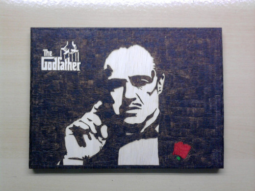 the godfather o poderoso chefão filme quadro pirógrafo