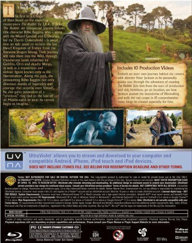 the hobbit: an unexpected journey ( blu-ray/dvd)