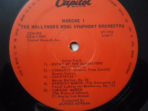 the hollywood bowl symphony orchestra / marche! lp